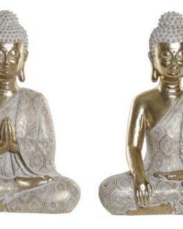 Figura resina Buda decapé 22x12x30 cm