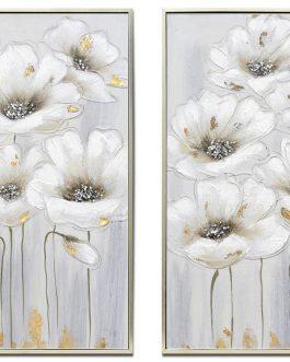 Cuadro flores con marco 53x3x73 cm