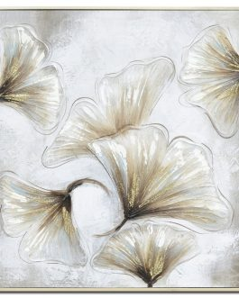 Cuadro flores con marco 63x3x63 cm