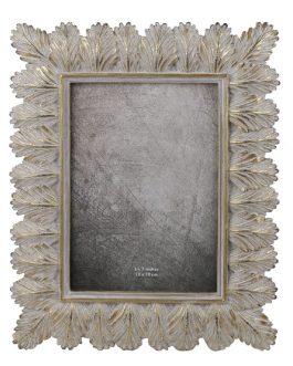 Portafoto resina dorado hojas 15×20 cm