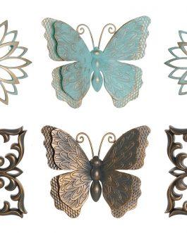 Decoración pared set de 3/mariposa, 252×25 cm