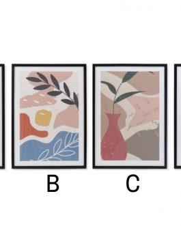Cuadro hojas 44x3x63 cm