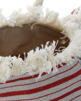 Bolsa lienzo rayas 51×22,5×38 cm