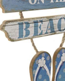 Decoración colgante «Beach» MDF 29×1,5×47 cm