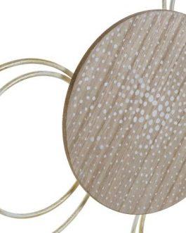Decoración metal /MDF beige 82,5x5x38 cm