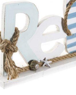 Decoración «Relax» MDF/cuerda 43×5,5×16 cm