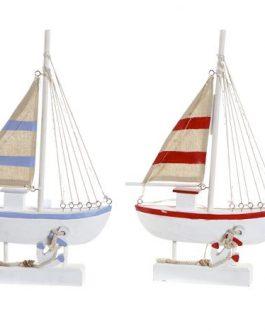Barco madera LED 26,5x8x44 cm
