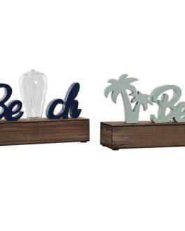 Decoración luminosa palmeras  LED/MDF 34x8x16 cm