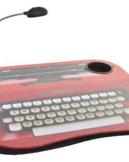 Bandeja maquina de escribir LED/PVC 48x35x5,5 cm