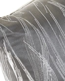 Cojín poliester gris 50×30 cm