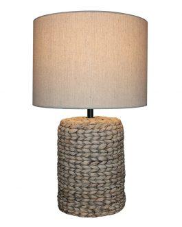 Lámpara sobremesa cerámica imitación cuerda 28x28x47 cm