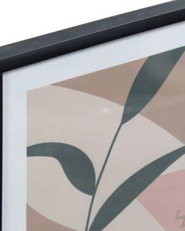 Cuadro con marco hojas 44x3x63 cm