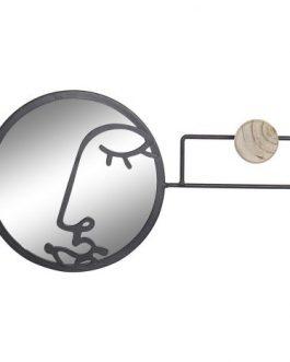 Perchero/espejo hierro/cristal 56x6x20 cm