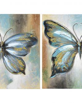 Lienzo mariposa 60x3x60 cm